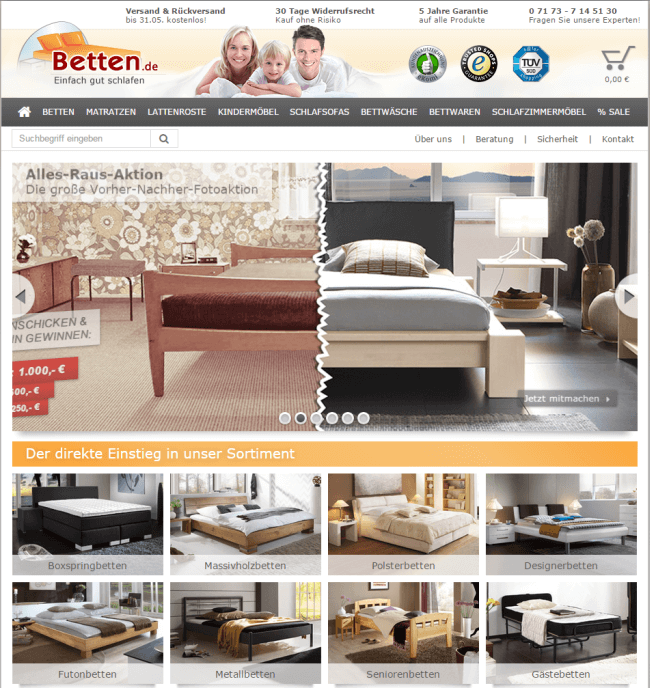bett online auf raten kaufen. Black Bedroom Furniture Sets. Home Design Ideas