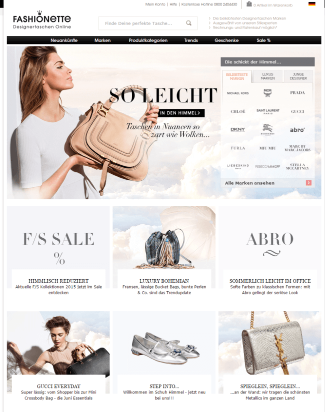 fd1c2ddd1824b1 Taschen auf Raten - Diese Shops bieten Ratenzahlung - Ratenkauf.net