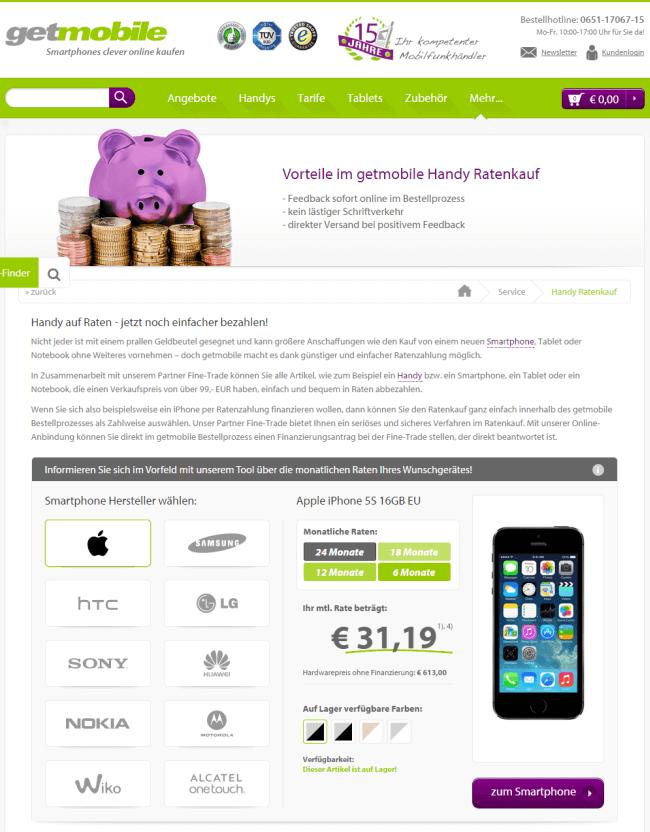 Smartphone Auf Raten Diese Shops Bieten Ratenzahlung Ratenkaufnet